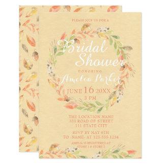 素朴な秋によっては水彩画のブライダルシャワーが開花します カード