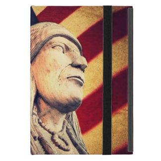 素朴な米国の旗の愛国心が強いネイティブアメリカン iPad MINI ケース