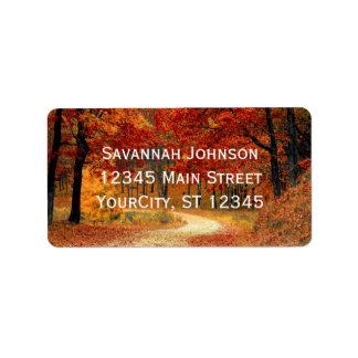 素朴な紅葉の秋のカスタムの宛名ラベル ラベル