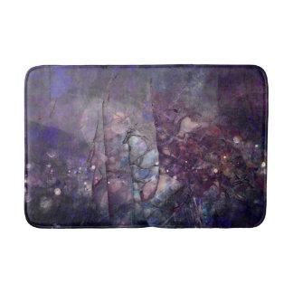 素朴な紫色の水晶Geode バスマット
