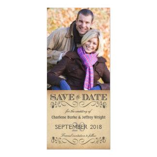 素朴な結婚式の保存日付の磁気写真の招待 マグネットカード