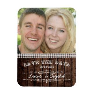 素朴な結婚式の写真の磁石 マグネット
