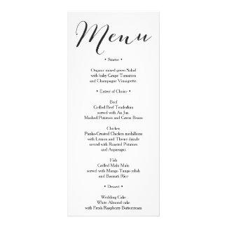 素朴な結婚式メニュー-ブライダルシャワーメニュー- ラックカード