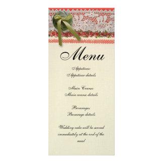 素朴な結婚式夕食メニューテンプレートBoho ラックカード
