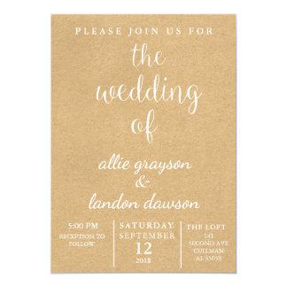 素朴な結婚式招待状 カード