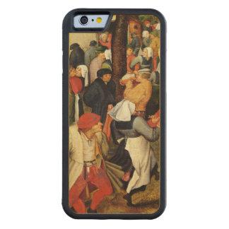 素朴な結婚式、人々の踊ることの詳細 CarvedメープルiPhone 6バンパーケース