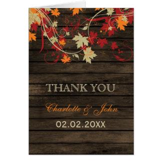 素朴な結婚barnwood紅葉の結婚はは感謝していしています グリーティングカード