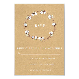 素朴な結婚RSVP カード