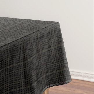 素朴な編まれたエレガントで黒いバーラップ テーブルクロス