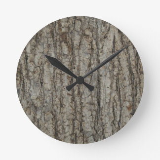 素朴な自然な樹皮の迷彩柄のカムフラージュ ウォールクロック