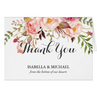 素朴な花の結婚式は感謝していしています カード