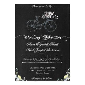 素朴な花の結婚式招待状IV 12.7 X 17.8 インビテーションカード