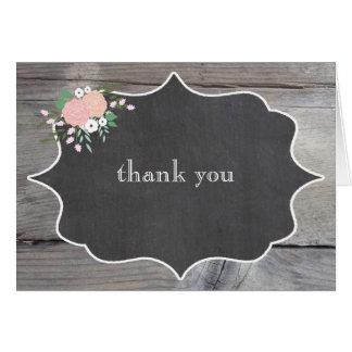 素朴な花の黒板はノート感謝していしています カード