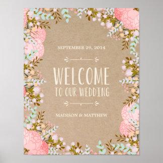 素朴な花|の結婚披露宴の印 ポスター