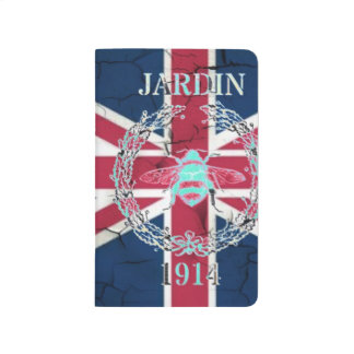 素朴な英国国旗の旗の女王の記念祭のフランス人の蜂 ポケットジャーナル