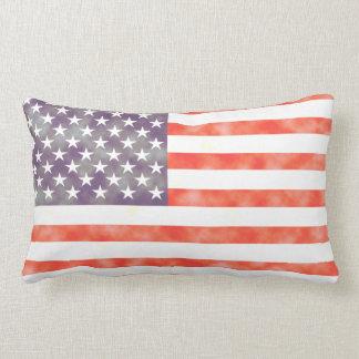 素朴な衰退した米国旗 ランバークッション