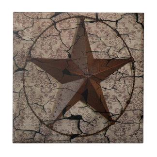 素朴な西欧諸国の初期のなテキサス州星 タイル