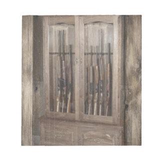 素朴な西欧諸国の火器銃のキャビネットのライフル ノートパッド