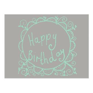 素朴な誕生日 ポストカード