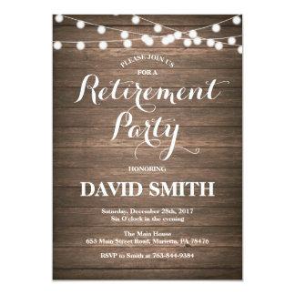 素朴な退職のパーティの招待状カード カード