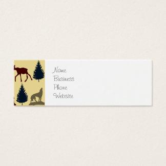 素朴な野生のアメリカヘラジカのオオカミの荒野山の小屋 スキニー名刺