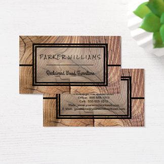 素朴な開拓された木製の家具ビジネス 名刺