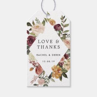 素朴な開花の結婚式の引き出物 ギフトタグ
