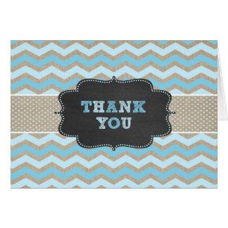素朴な青色児のシャワーは詩が付いているノート感謝していしています カード