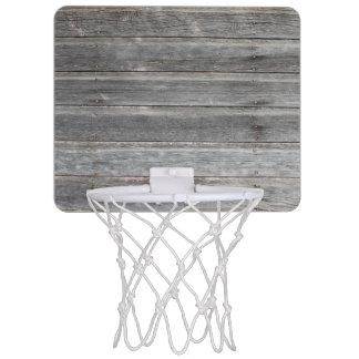 素朴な風化させた木製の壁 ミニバスケットボールゴール