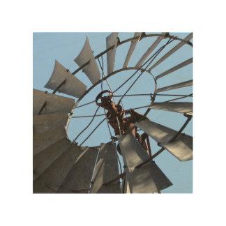 素朴な風車の木製の壁の芸術 ウッドウォールアート