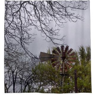 素朴な風車 シャワーカーテン
