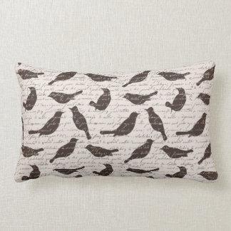 素朴な鳥のLumbarの枕 ランバークッション
