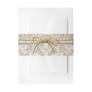 素朴な麻ひもの弓結婚式のコレクション 招待状ベリーバンド