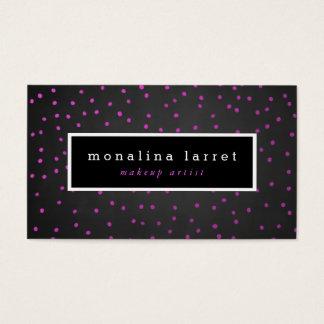 素朴な黒板のピンクの紙吹雪 名刺