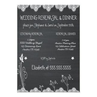 素朴な黒板のリハーサルの夕食 カード