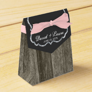 素朴な黒板の結婚式 フェイバーボックス