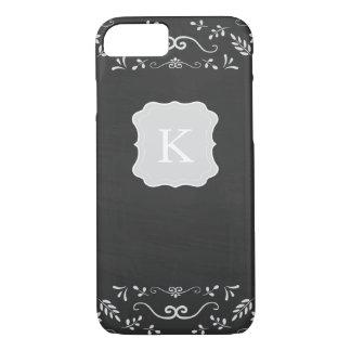 素朴な黒板の華麗さのデザイン iPhone 8/7ケース