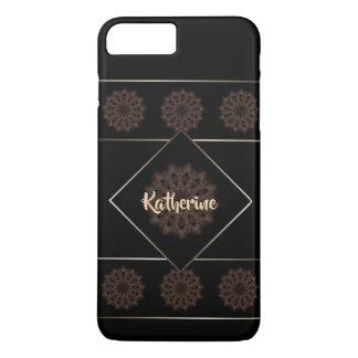素朴なBohoの花の曼荼羅のモノグラム iPhone 8 Plus/7 Plusケース