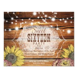 素朴なSweet sixteenのパーティの招待状 カード