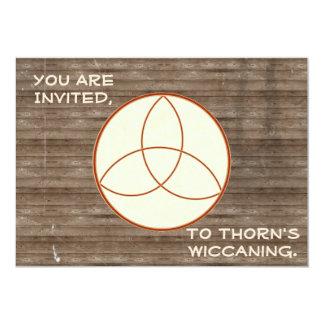 素朴なWoodbackground Triquetra Wiccaning/Saining カード