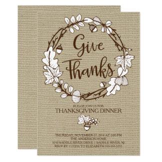 素朴感謝の感謝祭の夕食を与えて下さい カード