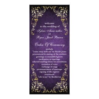 素朴|紫色|豪奢|結婚|プログラム オリジナルラックカード