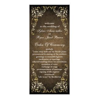 素朴|茶色|豪奢|結婚|プログラム オリジナルラックカード