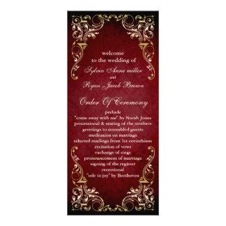 素朴|赤い|豪奢|結婚|プログラム ラックカード
