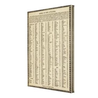 索引のモダンの地図書 キャンバスプリント