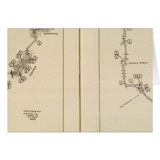 索引図アルバニー、Saratoga Springs カード