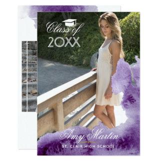紫外水彩画の卒業 カード