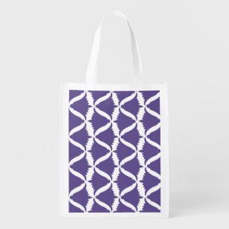 紫外紫色の鐘花草原のホタルブクロ エコバッグ