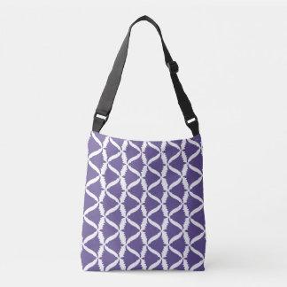 紫外紫色の鐘花草原のホタルブクロ クロスボディバッグ