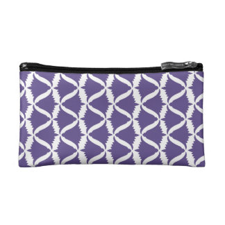 紫外紫色の鐘花草原のホタルブクロ コスメティックバッグ